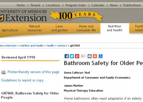 Bathroom Safety for Older People | SafetyMoment